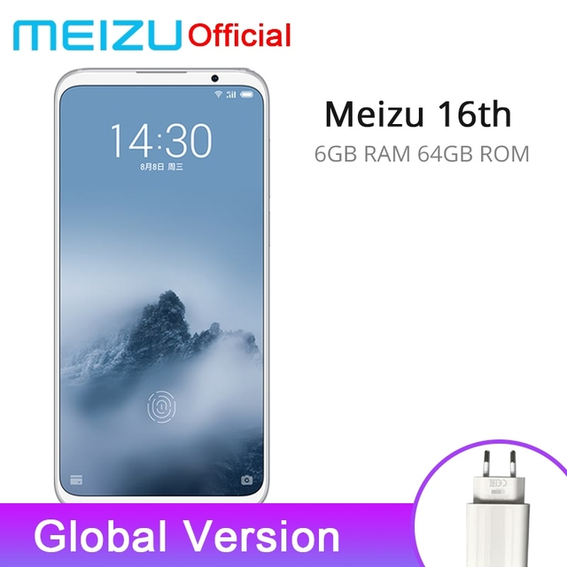 Официальная глобальная версия Meizu 16th 16 th 6 GB 64 GB Snapdragon 845 Octa Core 6,0 ''2160x1080 P Передняя 20.0MP In-screen Fingerprint
