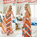 2017 New Women Summer Sexy Maxi Boho Dress Female Beach Dresses Sundress Loose Casual Long Dresses Women Elegant Vestido Robe