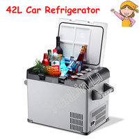 42L Car/бытовой контейнер для холодильника инсулина лед камеры переносной мини холодильник компрессорный морозильник охладитель глубина хол