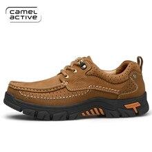 Camel Active Men Hiking Shoes Nubuck Climbing Shoes Waterproof Outdoor  Trekking Shoes Genuine Leather Mountain Shoes