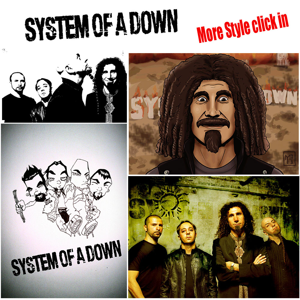 Syetem of a down metal band vintage retro rock band music for Retro house music