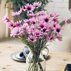 Image 3 - 5หัว/ประดิษฐ์Dasiyดอกไม้ผ้าไหมปลอมดอกไม้ตกแต่งStamen Daisyขนาดเล็กสำหรับงานแต่งงานดอกไม้ตกแต่งบ้าน