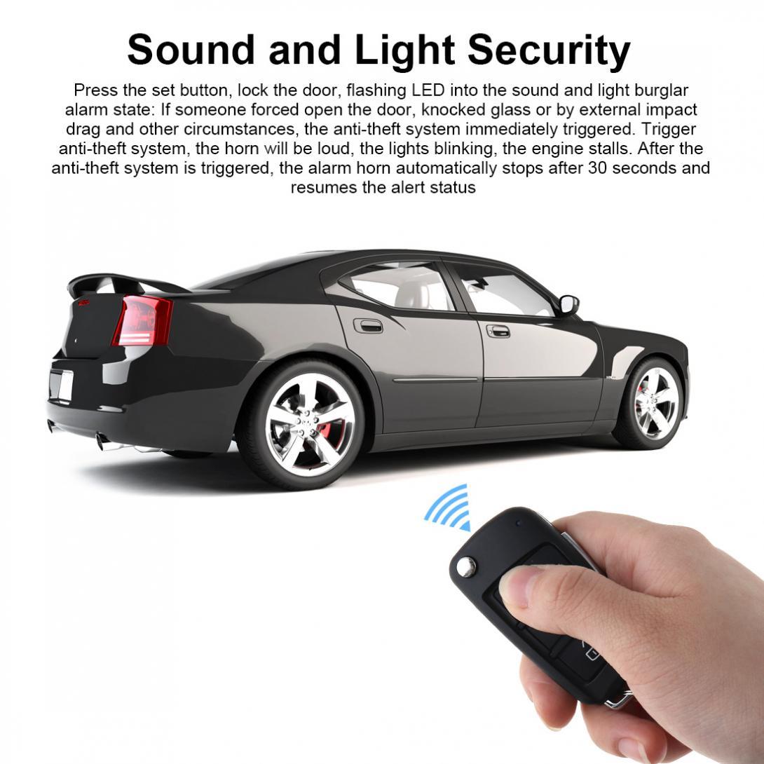 Système d'alarme de voiture universel 12 V système d'arrêt de démarrage à distance avec verrouillage Central automatique et entrée sans clé - 4