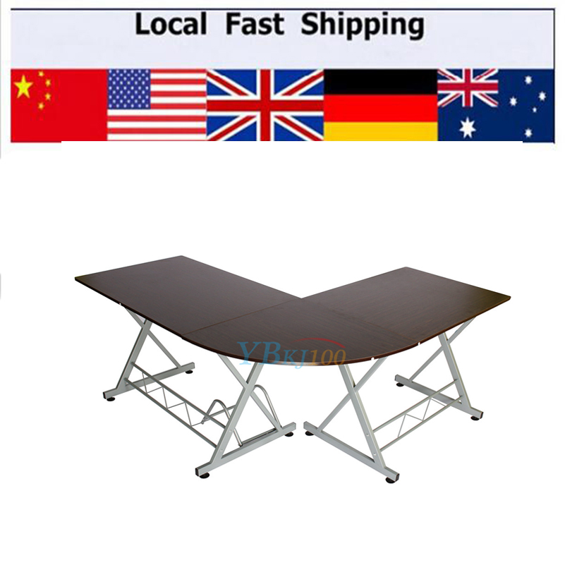 hottest l shaped computer table durable computer desk modern home study office furniture corner desk cheap office workstations