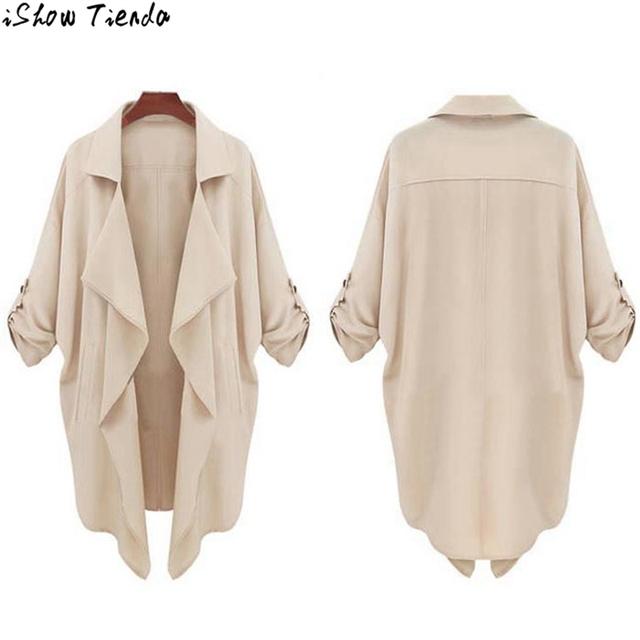 Mulheres casaco Cáqui Cor Sólida Celebridade Blusão Cardigan Casual Tops Outwear Jacket Brasão Cortavientos Mujer #2816