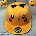 2017 Cartoon accessories hip pop hat Pikachu yellow cap girls boy cool baseball hat friend gifts CA279