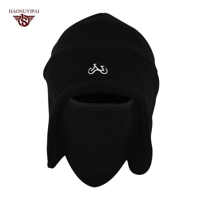 a303ccc2 New Winter Outdoor Fleece Hats Ski Bike Warm Caps Windproof Face Mask Skull Beanies  Cap For Women Men Custom Bicycle Hat HE002