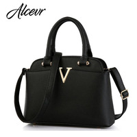 ACELURE Women Louis Bag Handbags New Summer Famous Brands V Metal Tote PU Leather Bag For