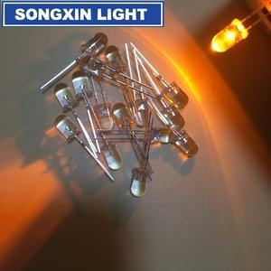 Image 4 - 1000 قطعة 5 مللي متر LED وميض الثنائيات وامض الأصفر وامض شمعة صمام ثنائي باعث للضوء الخفقان وميض ديودو دانشان Y