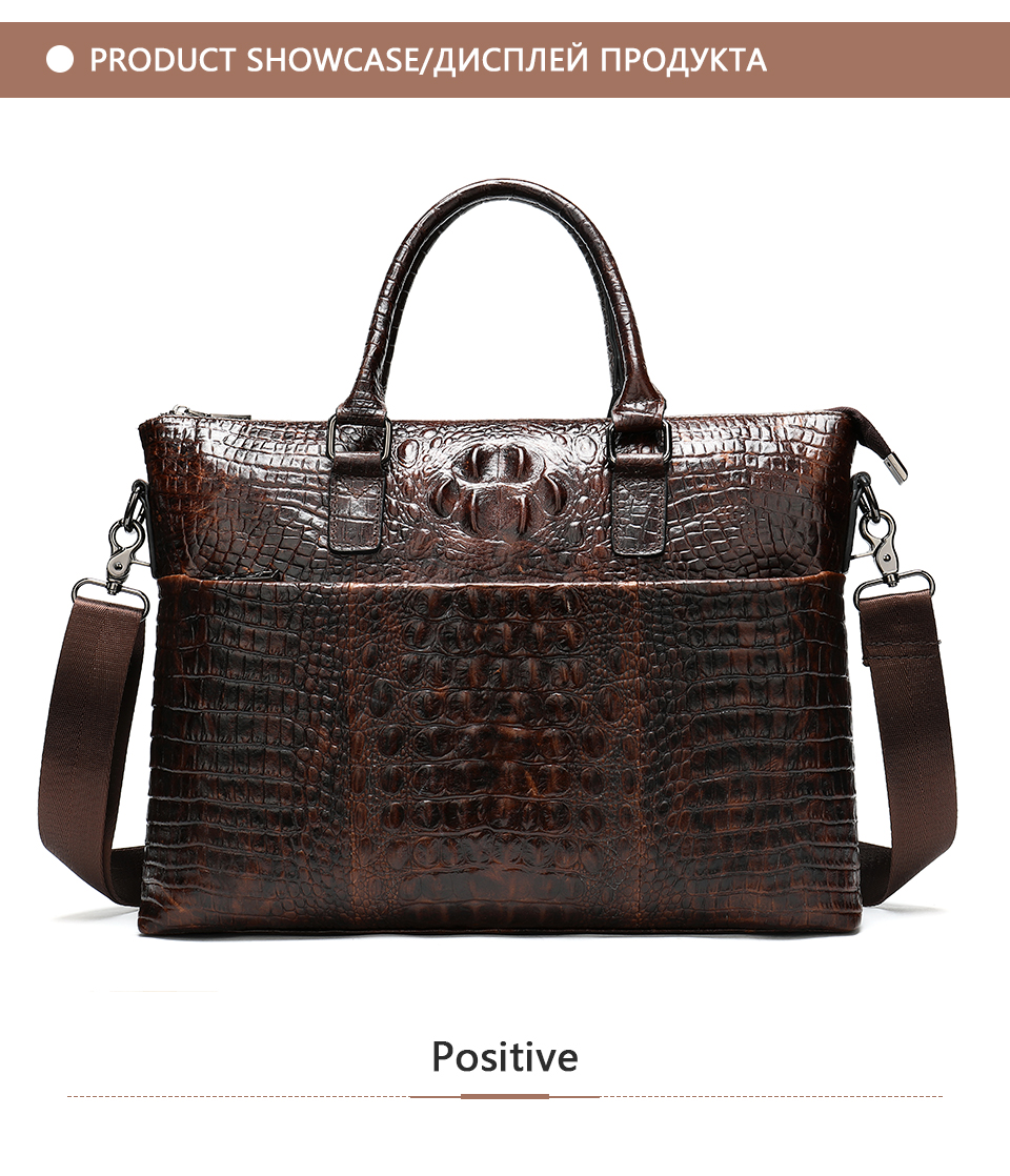 HTB1wp65e8Cw3KVjSZFuq6AAOpXaU WESTAL Men Briefcase Men's Bag Genuine Leather Office Bags for Men Laptop Bag Leather Briefcase Men Croco Design Computer Bags