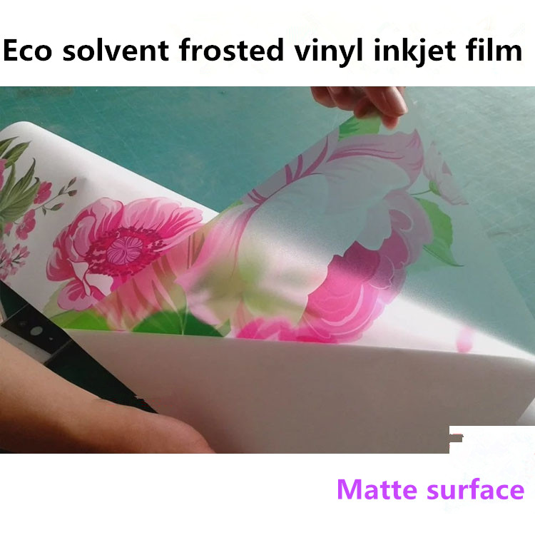 Wholesales Self-Adhesive Frosted Glass Vinyl PVC Printable Film Roll For Eco solvent printer