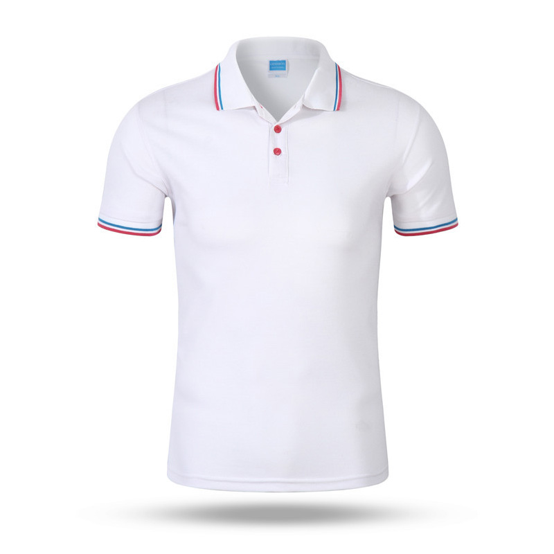 Solid   Polo   Shirt Men Cotton Casual Men's   Polo   Short Sleeve Breathable Slim Poloshirt Fashion White Red Tops Camisas Masculina
