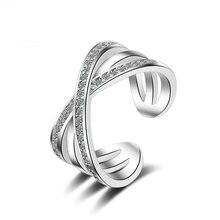 Двойные кольца для женщин двойная буква x кольцо в форме буквы