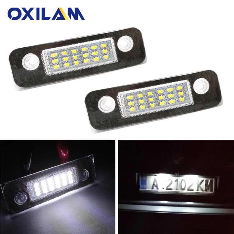 2Pcs No Error LED Number License Plate Light Lamp for <font><b>Ford</b></font> <font><b>Fiesta</b></font> Fusion 2019 2018 2017 2016 2015 2014 2013-2002 <font><b>Accessories</b></font> image
