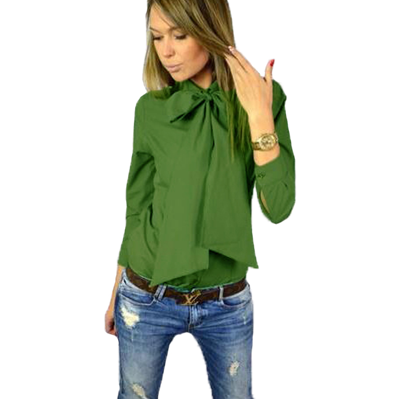 Creative Summer Fashion 2016 Women Blouse Shirt Army Green V Neck Shirt Women