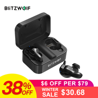 Blitzwolf Bluetooth V5.0 TWS Wireless Earphone Stereo Earbuds Waterproof Microphone Sport Earphone with Charging Box for Phone