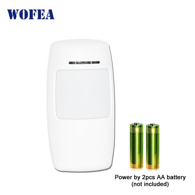 Wofea wireless PIR sensore a infrarossi motion detector 1527 Tipo 3V di alimentazione per la casa di allarme di sicurezza 433mhz
