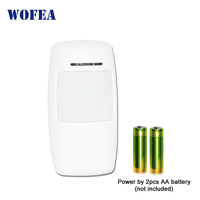 Wofea Wireless PIR Infrared Sensor Motion Detector 1527 Type 3V Power For Home Security Alarm 433mhz