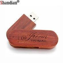 SHANDIAN Wooden USB Flash Drive Pendrive Memory Stick 4GB 8GB 16GB 32GB