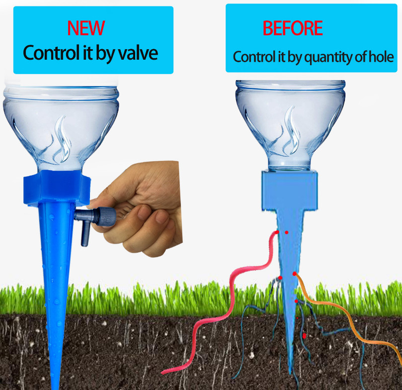 1PC  Plant Water Seepage Organ Automatic Drop Dawdler Valve Adjusttable Flower Self Watering Spikes Stakes Irrigation System #YJ