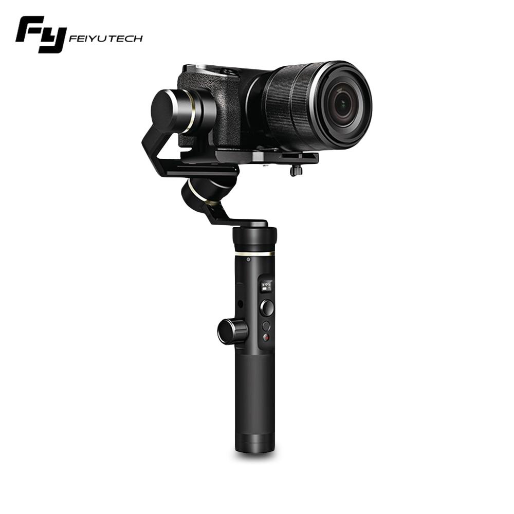 FeiyuTech G6 Plus stabilisateur de cardan portable 3 axes G6P pour caméra sans miroir GoPro charge utile du téléphone intelligent 800g Feiyu G6P