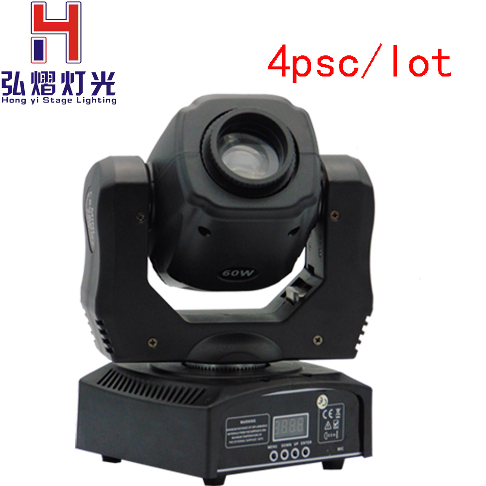 Best Quality 4Pcs/Lot Led 60W Led Moving Head Spot Light Led Moving Head sport DMX512 moving head 60w manufacturer