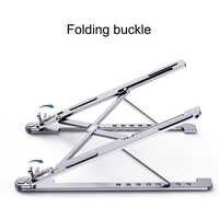 Support de tablette de support de bureau réglable de refroidissement en aluminium de support d'ordinateur portable pliant pour le support Pro d'air de MacBook