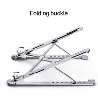 Dobrável portátil suporte de alumínio de refrigeração ajustável suporte de mesa tablet suporte para macbook ar pro suporte