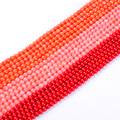 1pack/lot 5.5mm High quality Round Natural Red pink orange Coral loose spacer beads DIY for bracelet necklace jewelry making