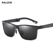 Aluminum Magnesium Square Brand Designer Sunglasses Polarized Black Lens Men Rectangle Sun Glasses Male Eyewears Accessories