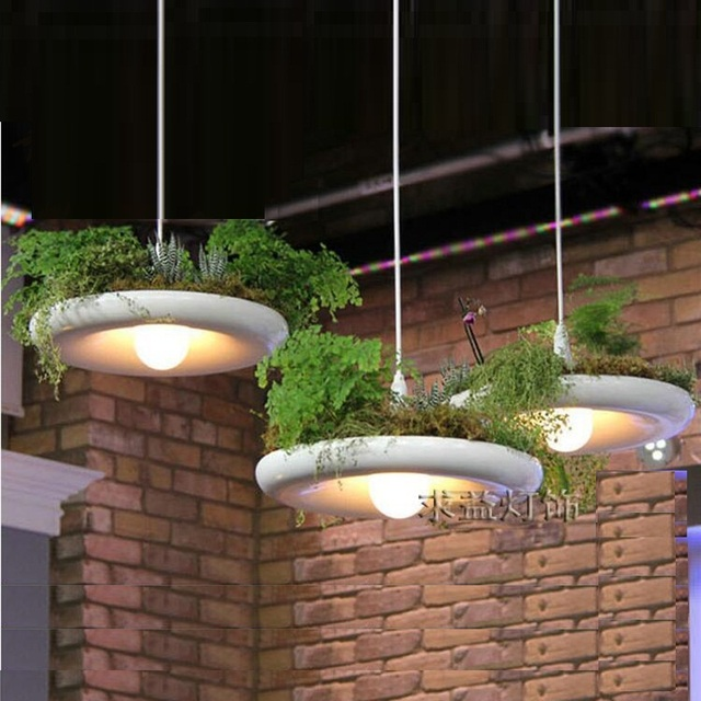 LukLoy Babylon Potted Plant Pendant Light Lamp Shade Modern