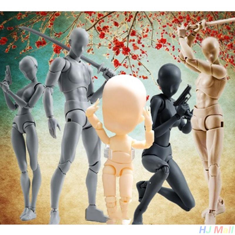 2017 Anime Body Kun / BODY CHAN Movable Action Figure Model Toys Anime Mannequin Bjd Art Sketch Draw Collectible Model Toy shfiguarts pvc body kun body chan body chan body kun grey color ver black action figure collectible model toy