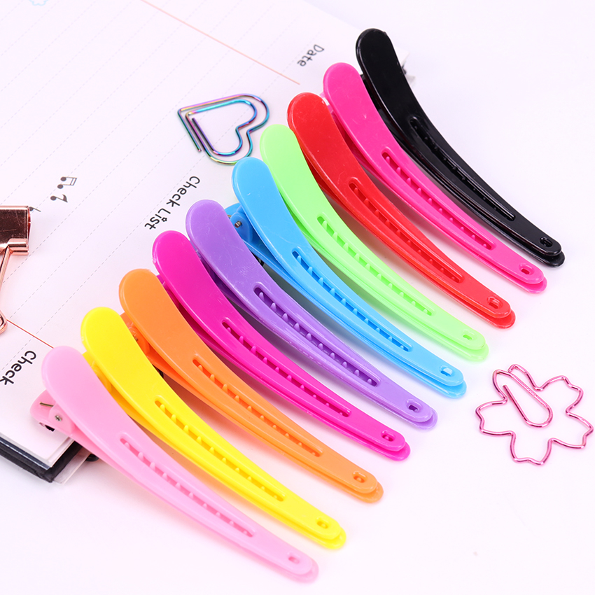 10PCS/lot Multicolor Professional Styling Duckbill Hair Clip Hairdressing Salon Hairpins Hair Pins Accessories   Headwear   Barrette