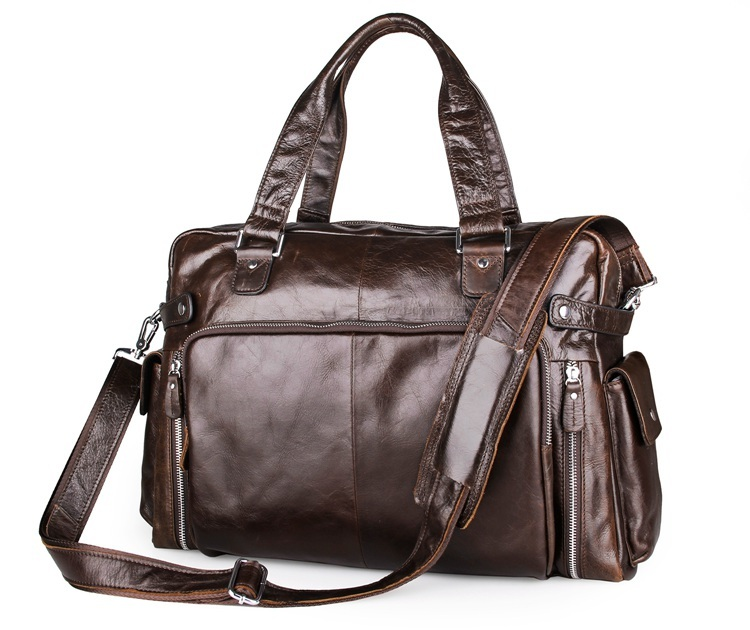 Men s Briefcase Genuine Leather Men Bag Business Men Messenger Bags Tote Shoulder Laptop Large Capacity