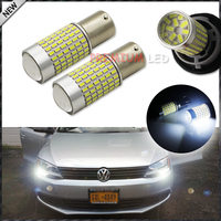 2pcs Error Free 1200 Lumens Super Bright 3014 Chipsets 1156 BA15s P21W LED Bulbs For Volkswagen