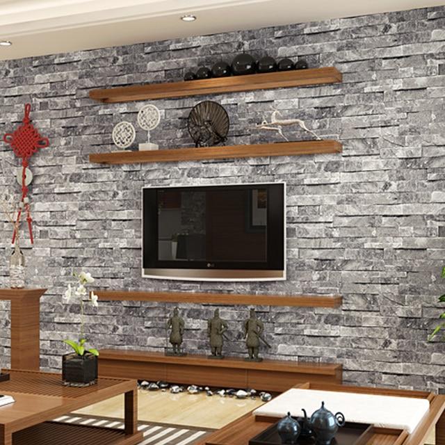 Amazing 3D PVC Ziegel Stein Tapeten Chinesischen Rustikale Vintage Peeling Geprägt  Waschbare Tapete Wohnzimmer Hintergrund WP16050