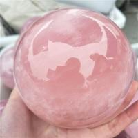 large top quality 9 10cm natural pink quartz crystal sphere meditation rose crystal ball reiki healing remove negative energy