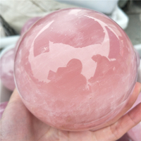 large top quality 9 10cm natural pink quartz crystal sphere meditation rose crystal ball reiki healing remove negative energy