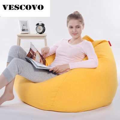 Tatami preguiçoso sofá beanbag sacos de feijão cadeira espreguiçadeira beanbag sala de estar cubra com o recheio 90x110 cm