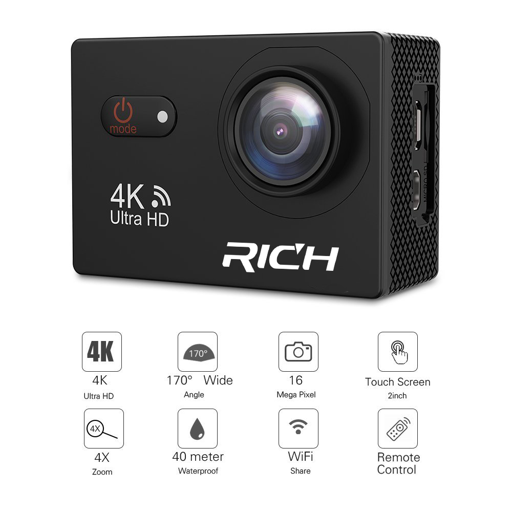 Rich M952 HD 1080P 2inch Screen Action Digital Sport Cam Waterproof 30M DV Camera Mini portable Photo underwater Video Cam