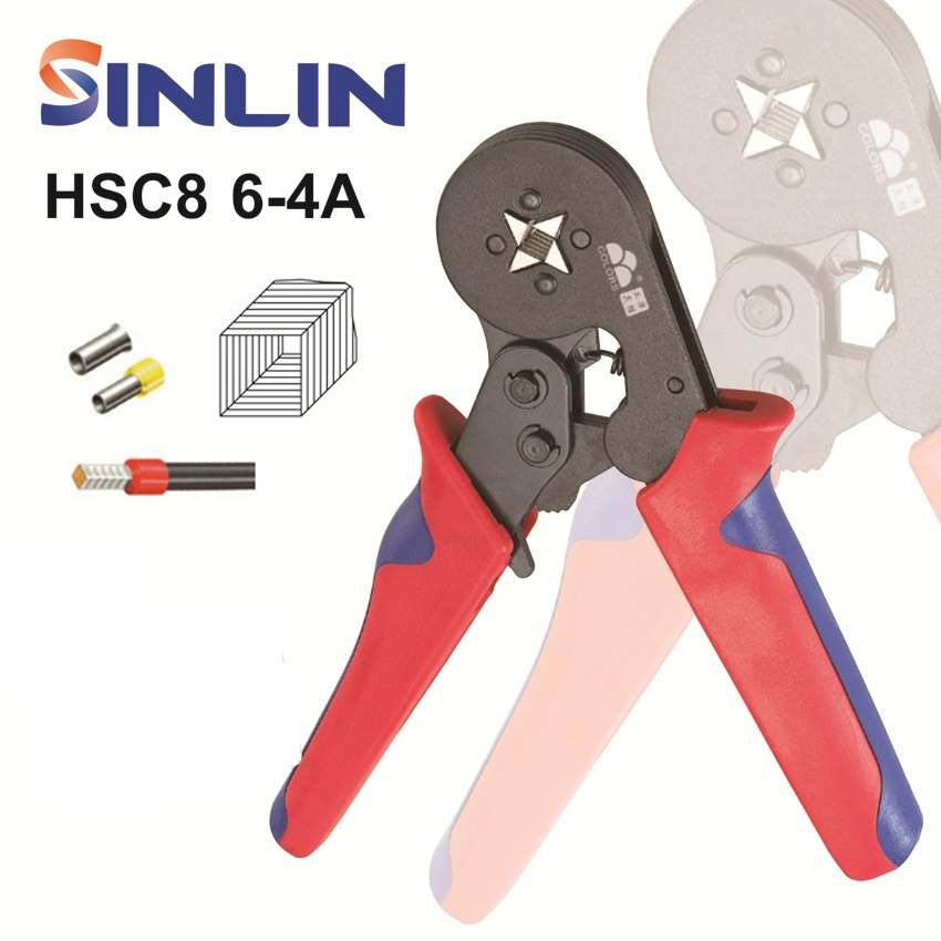 HSC8 6-4A 0.25-6mm 23-10AWG SELF ADJUSTABLE CRIMPER PLIER electrical terminals crimping tools stylish 7 hollow stereo circles pendant necklace