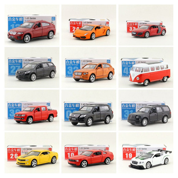 Diecast Metal Toy Model/1:43 Pickup Truck Bus Racing Car SUV/Pull Back/Doors Openable/Educational Collection/Gift For Kid image