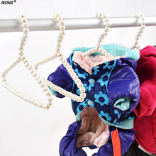 IRONX 3pcs/lot 20cm Children Plastic Pearl Hanger Baby Hangers For Clothes Kids Plastic Hanger Child Clothes Rack MI7