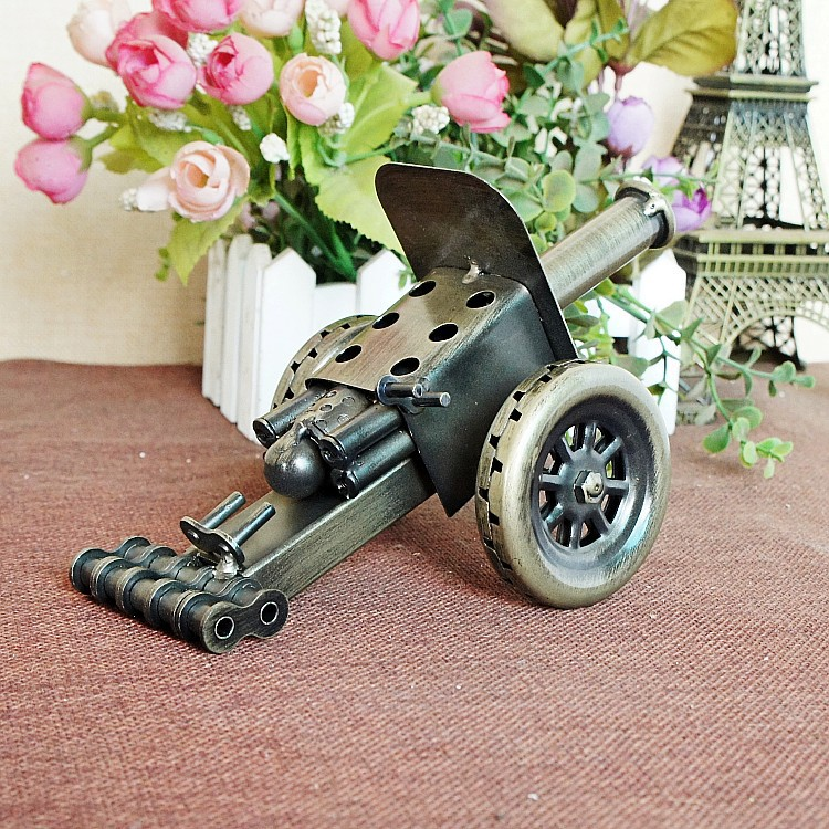 delicate old fashioned classic home decor metal handicraft ancient weapon model cannon model building toys for