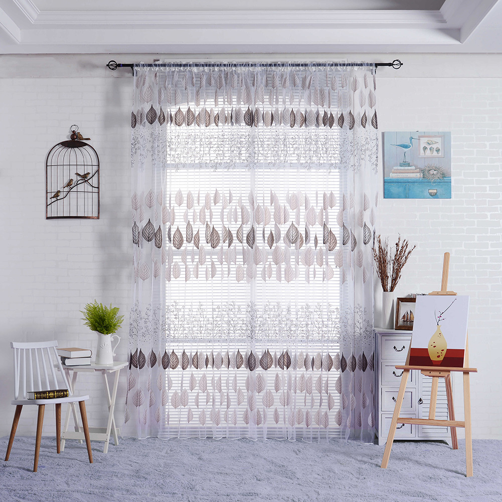Bedroom Curtains Sale Hot Sale Curtains Leaf Sheer Window Curtains For Living Room Panel Balcony Bedroom Study Curtain 3 Colors Home Decoration In Curtains From Home