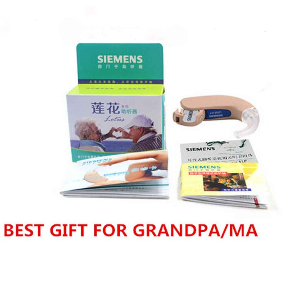 2016 New 100% Original SIEMENS hearing aids Lotus 12P BTE Powerful Hearing Aid/Wireless Old People WITH 10PCS A13 BATTERY new arrival original lotus 12sp hearing aids wireless bte hearing aid for siemens free shipping