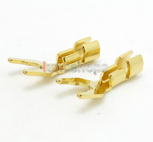 Speaker Audio Fork Adapter Connector male For DIY Solder Hifi Cable Cord