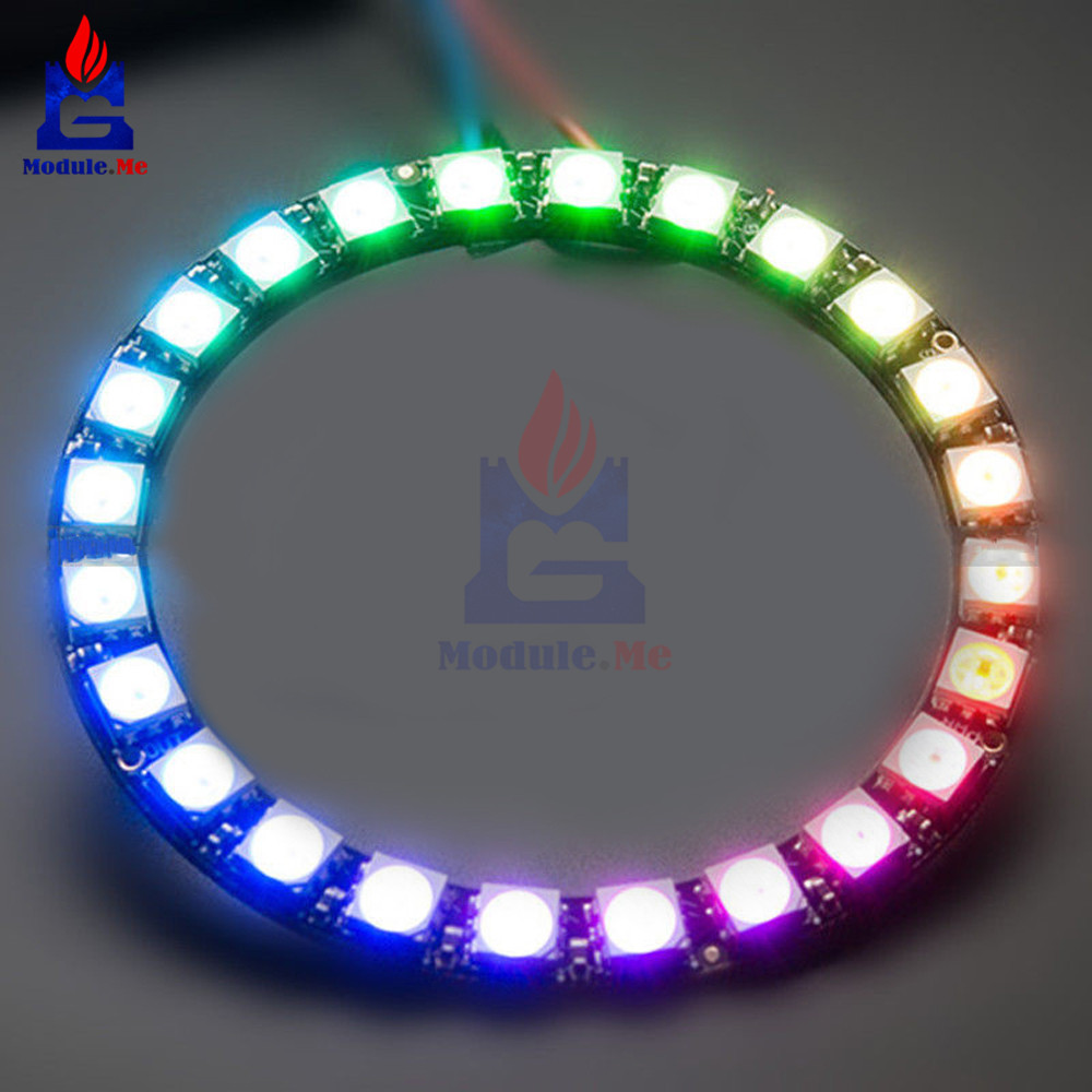 Sincere 16 Bit Ws2812 5050 Rgb Led Full-color Built-in Driving Lights Round Development Board Diodes