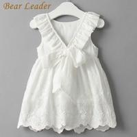 Bear Leader Girl Dress Princess Costume 2016 Brand Silk Chiffon Kids Clothes Girls Dresses Leopard Print
