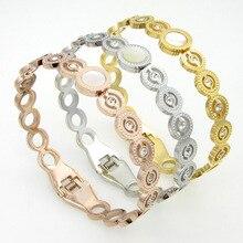 titanium steel jewelry Fashion lady bracelet wristband love bracelet gold bracelet sliver bangle jewelry for woman couple gift